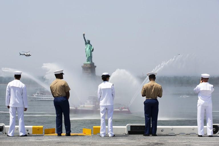 24th MEU Marines arrive for Fleet Week New York 2016