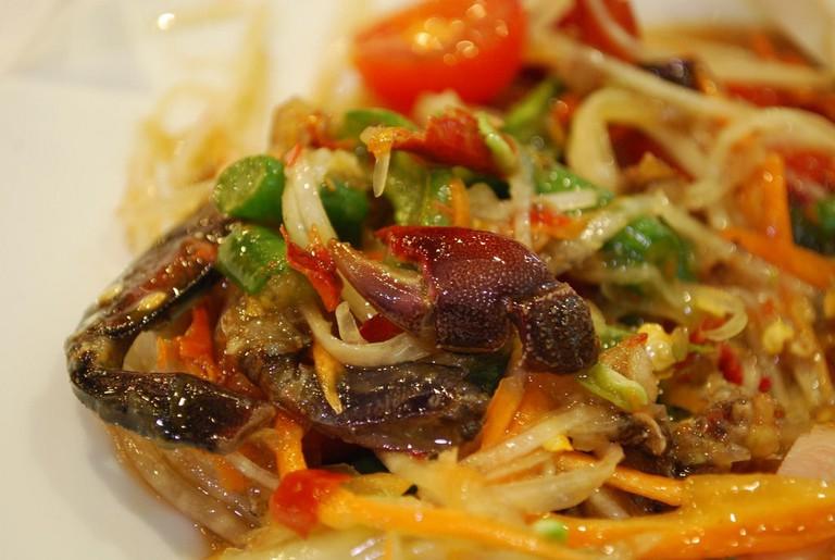 Crab papaya salad