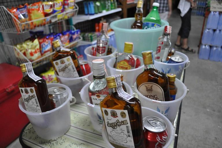 Drinks buckets in Thailand