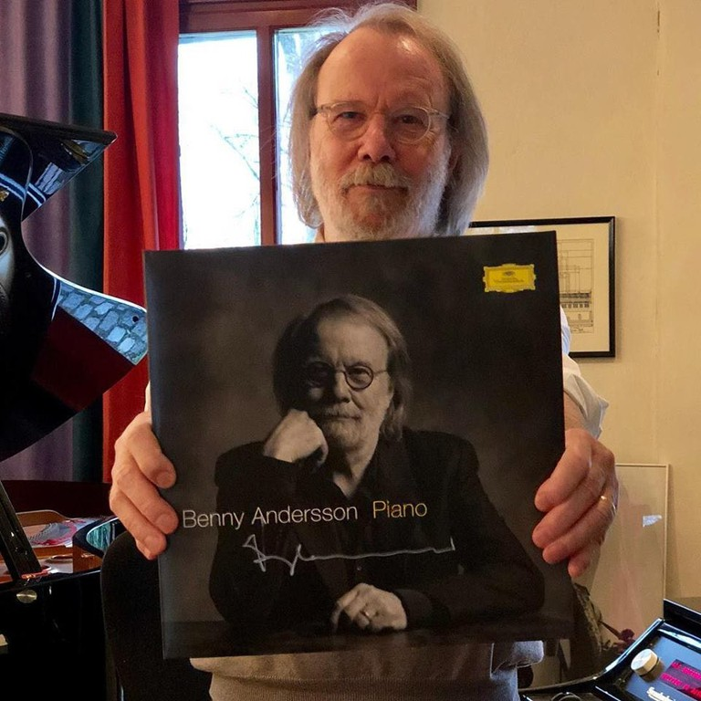 At the release of his piano album from Universal Music, Courtesy of ABBA Official Page