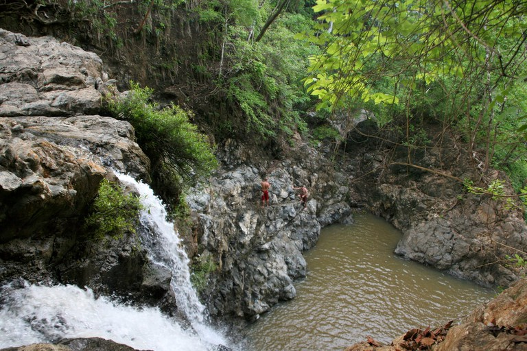 Montezuma waterfall in Costa Rica