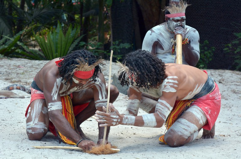 Indigenous smoking ceremony © Australian Heritage Festival