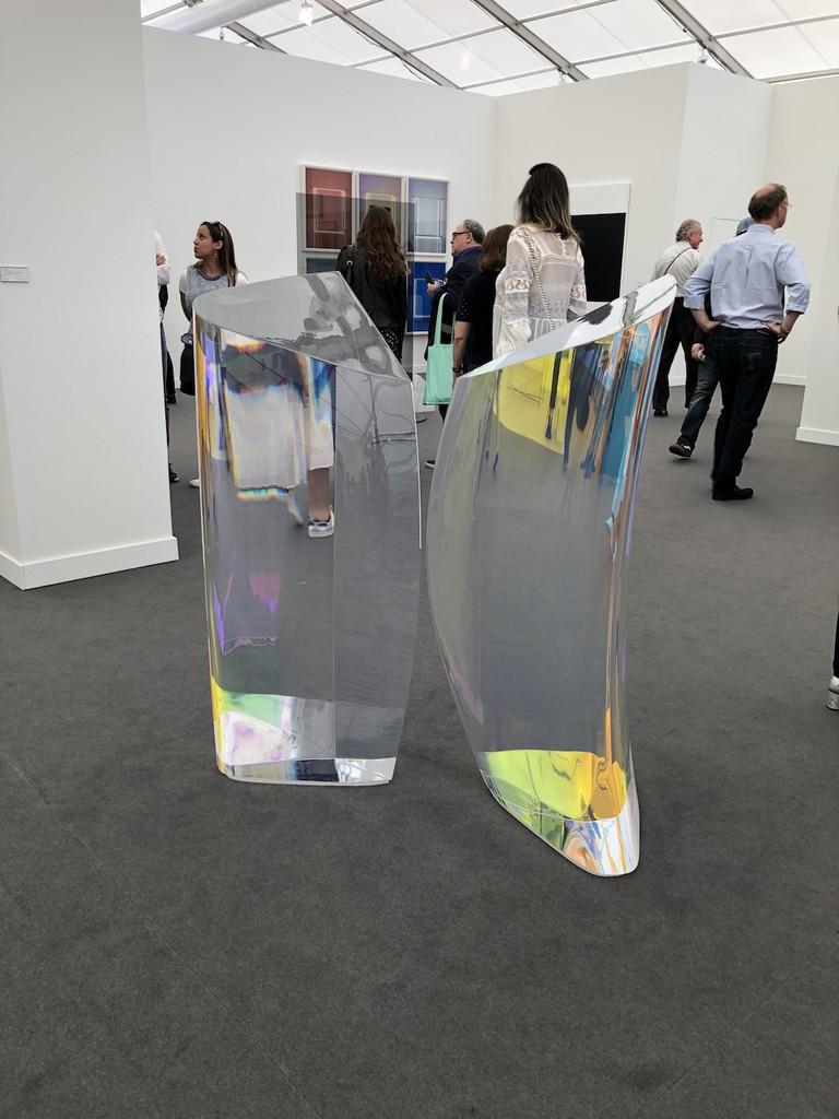 Installation image of Mariko Mori Plasma Stone II at Sean Kelly, Frieze New York 2018. Photo by Christine Lee