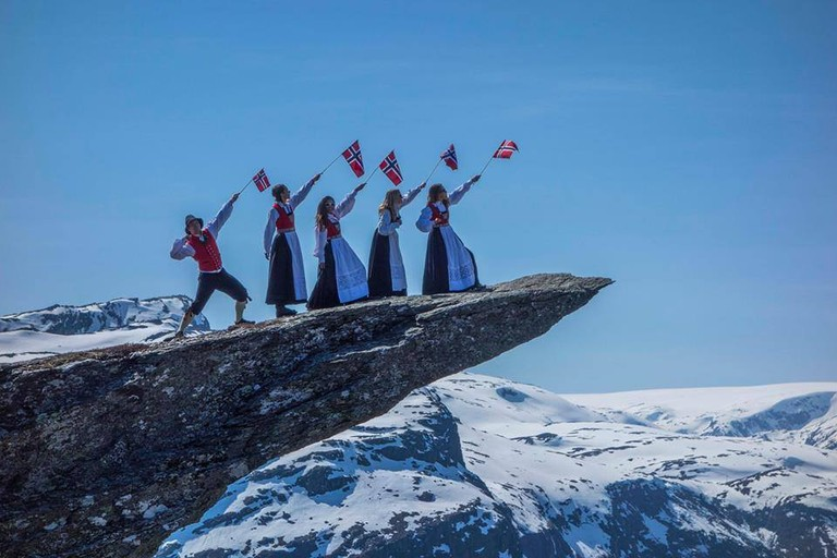 May 17 celebrations on top of Trolltunga, Courtesy of Visit Hardangerfjord