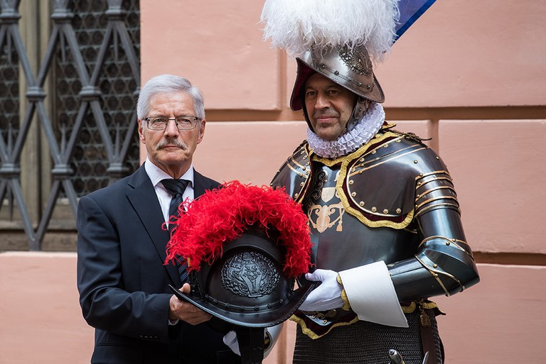 Christoph Graf and Peter Portmann, Swiss Guard swearing-in ceremony, Rom, Vatican City State