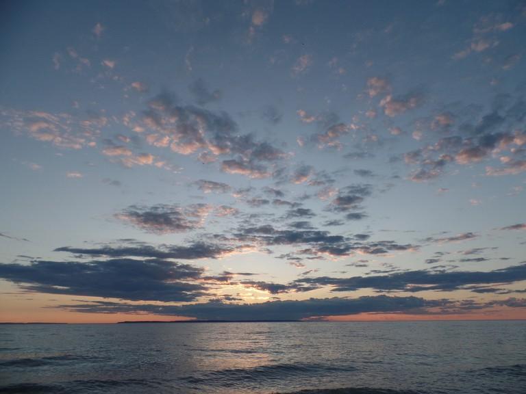 Hall Beach sunset