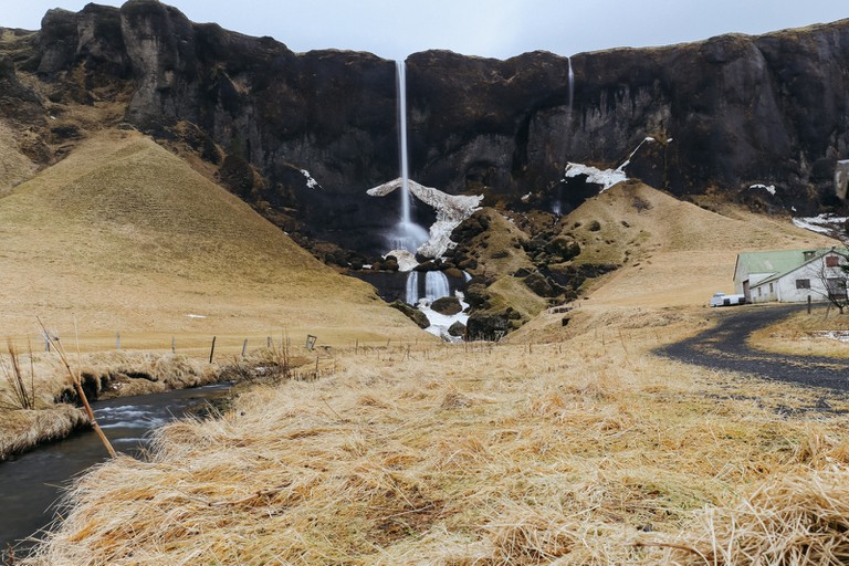 Foss á sidu-Iceland Golden Circle Tour-Iceland