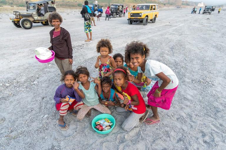 Aboriginal children, Capas, Philippines