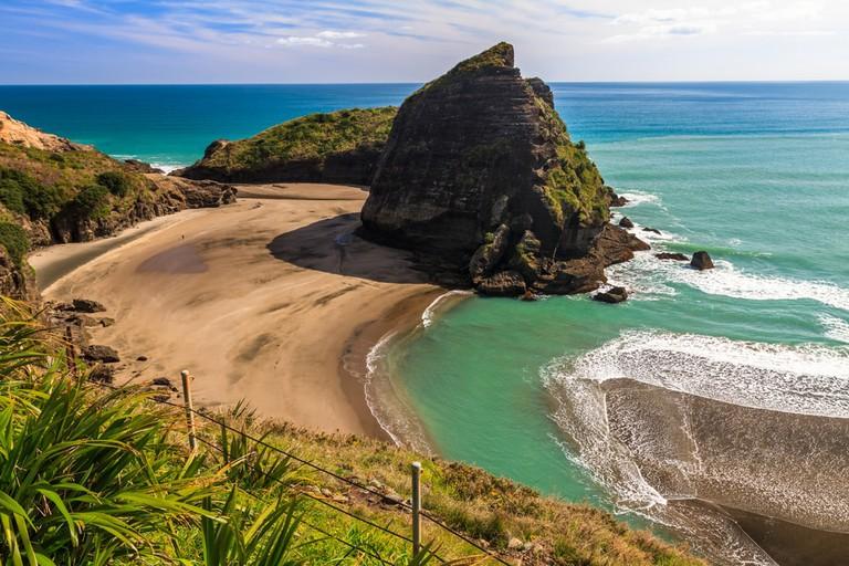 Piha Beach on the West Coast of the North Island, Auckland, New Zealand