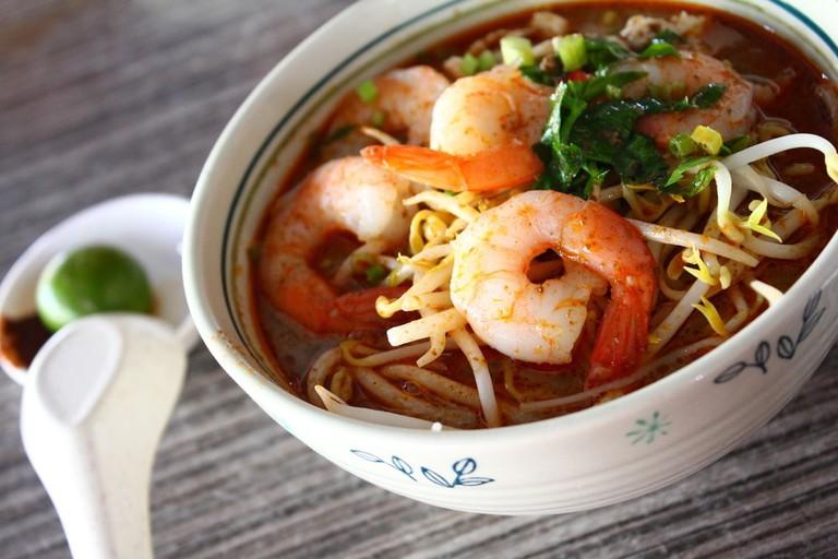 Local cuisine Sarawak Laksa in Sarawak, Malaysia