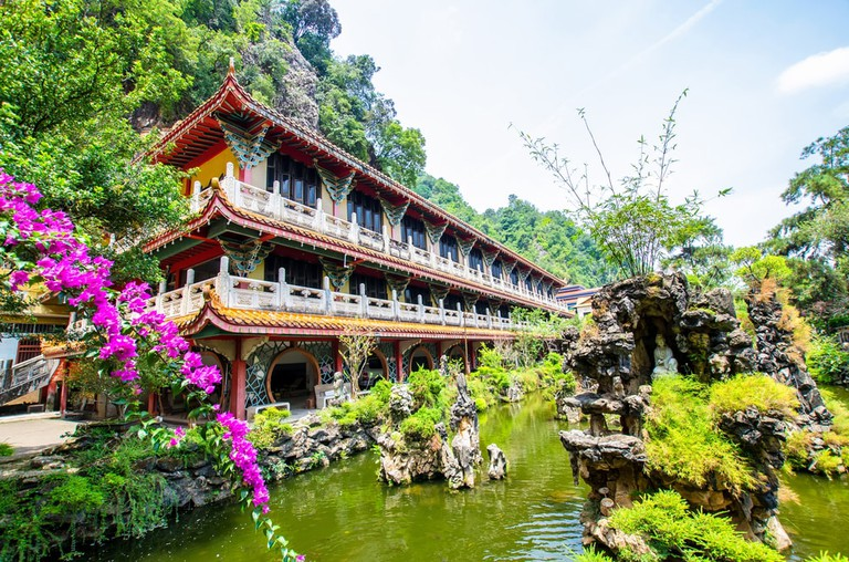 Sam Poh Tong Temple at Gunung Rapat in the south of Ipoh, Malaysia
