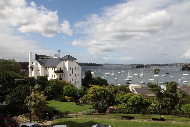 The view of Elizabeth Bay, Sydney, Australia