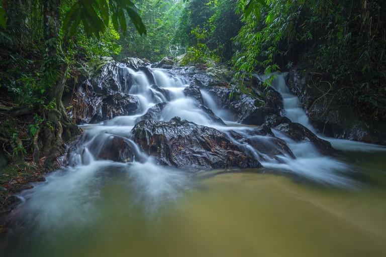 Templer Park's waterfall at Rawang, Selangor