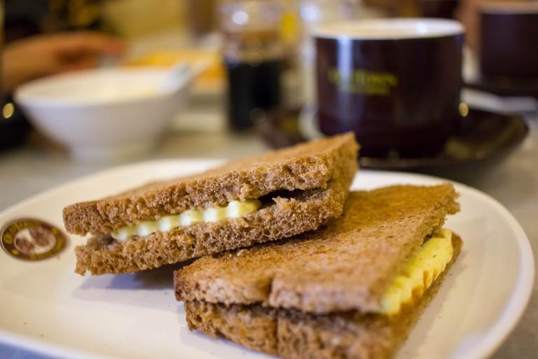 Kaya butter toast, Ipoh, Perak