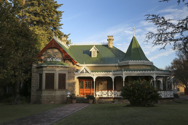 Old feather palace house that use to belong to a ostrich farmer in Oudtshoorn, South Africa