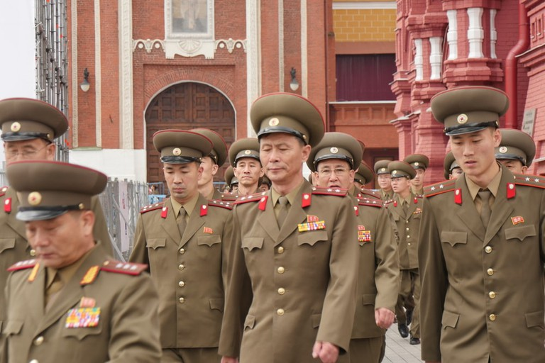 North Korean Army Soldiers in Moscow