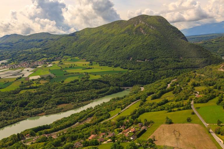 River Through the Jura Mountains, France
