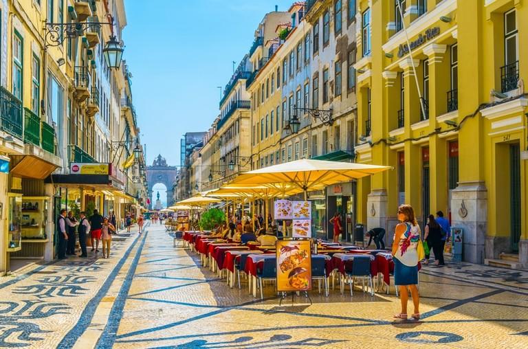 Rua augusta in Lisbon, Portugal