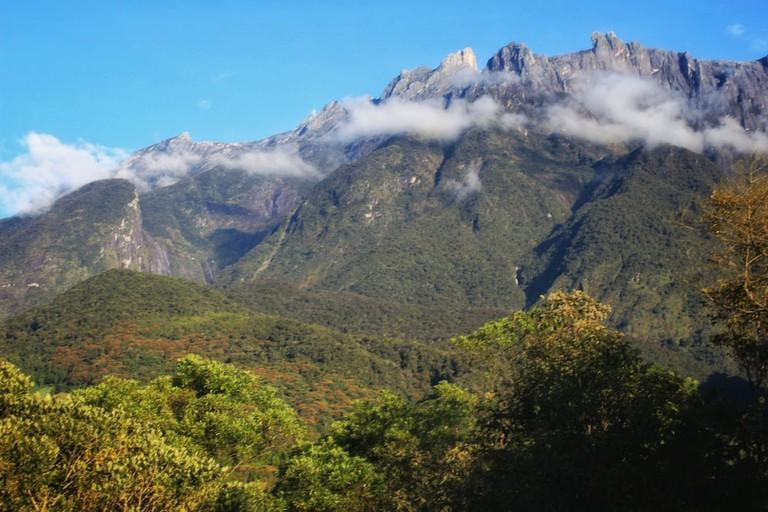 The view of the peak of Mount, Kinabalu taken from Mesilau, Kundasang Sabah