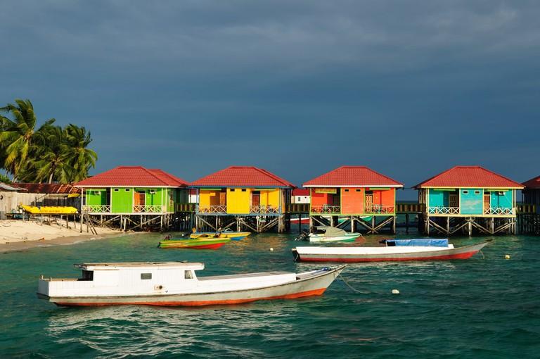 Derawan islands located in Sangalaki, Indonesia