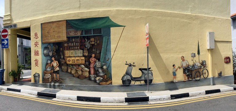Singapore Mural Everton Road YipYC