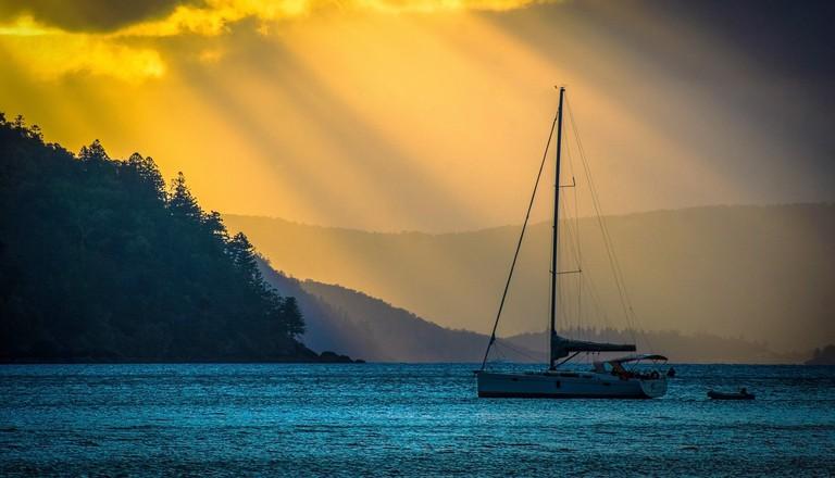 Sunset sail in Airlie Beach
