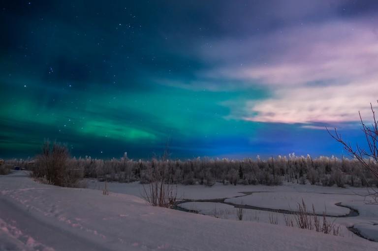 Northern lights, Valek river