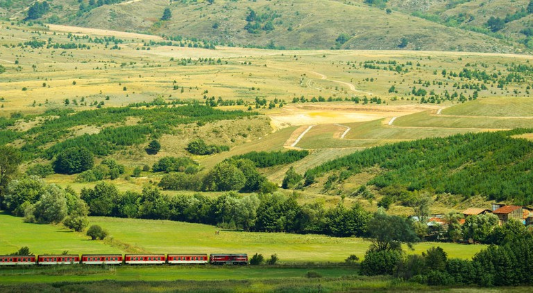 Bulgarian narrow-gauge railway train