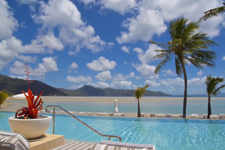 Relaxing at the resort on Hayman Island