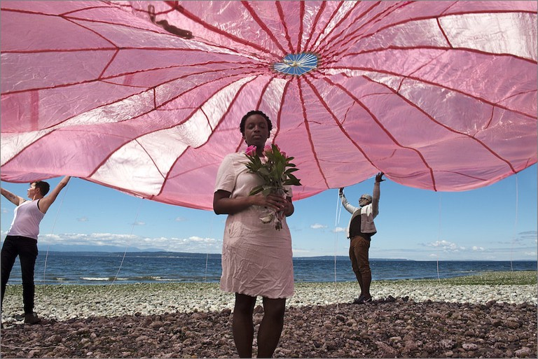 C. Davida Ingram, 'Jane with Open Pink Parachute' (2016)