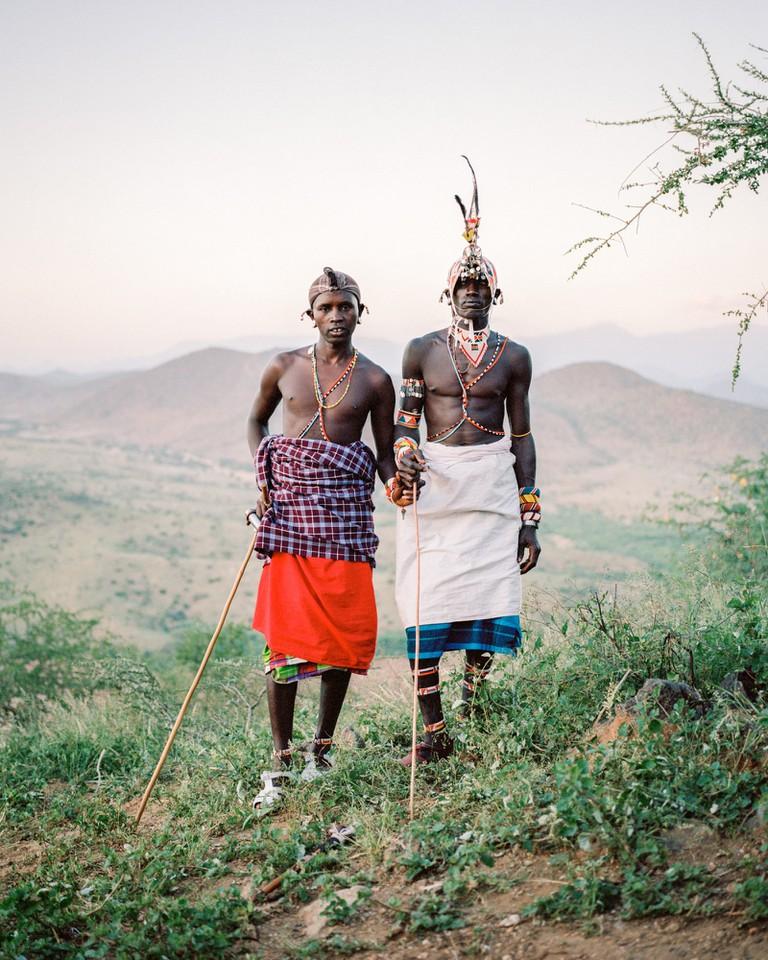 Samburu Warriors, Milgis Trust, Kenya, from the series Odyssey