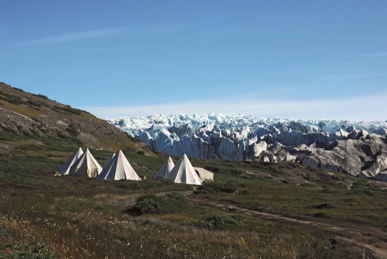 Tent camp near the ice sheet in the easternmost part of the nominated area. Easy access to the inland ice makes Kangerlussuaq a popular starting point for excursions to the ice sheet.