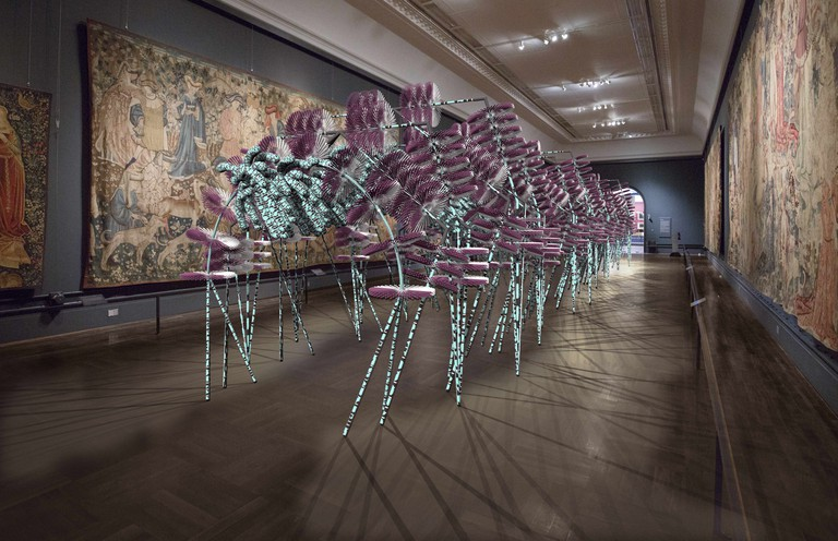 The 25m-long Onion installation in the V&A's Tapestry Rooms