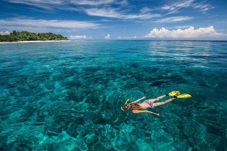 Snorkeling, Gili Trawangan island, Indonesia