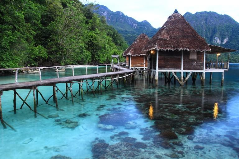 Ora Beach Resort, Seram Island, Central Maluku, Indonesia.