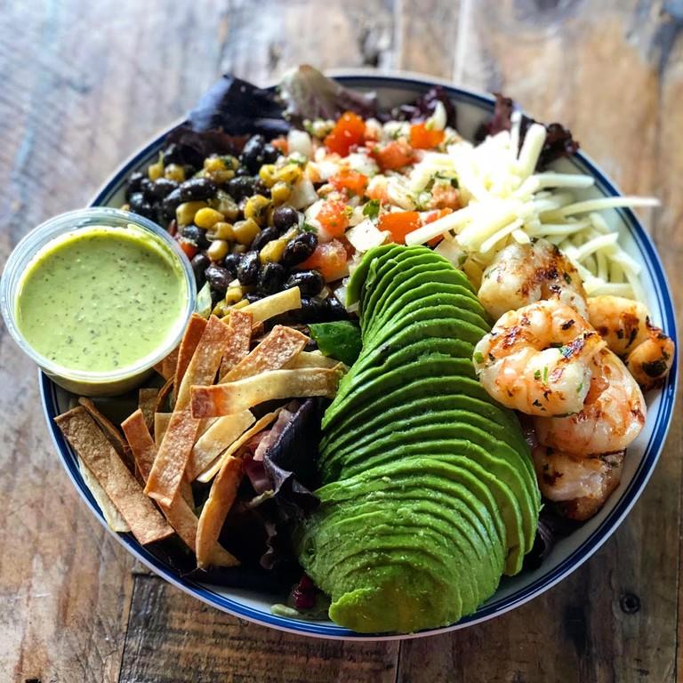 Havana salad with grilled wild caught gulf shrimp
