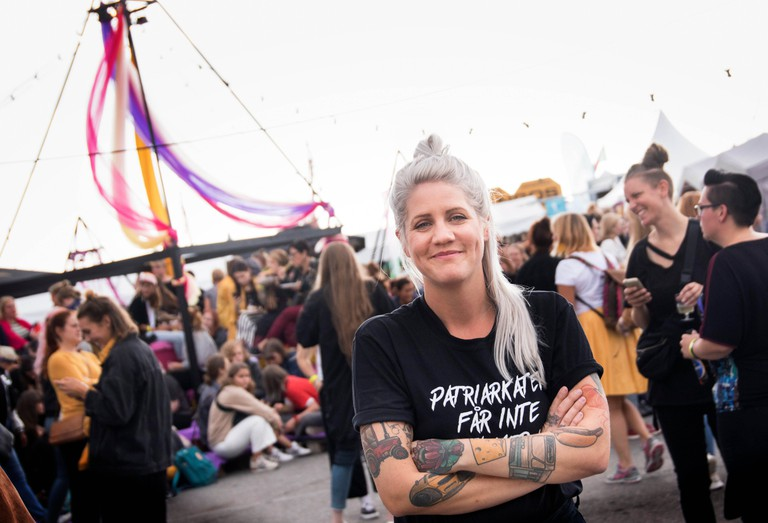 Emma Knyckare, founder of the two-day Statement Festival at Bananpiren in Gothenburg, Sweden.