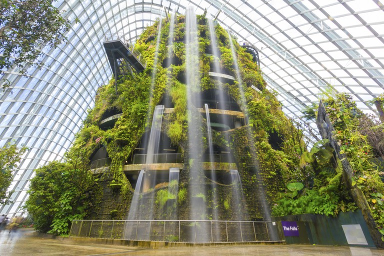 Inside of the cloud Dome of Garden by the Bay Singapore.