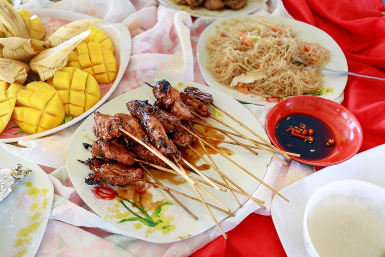 Grilled Pork food from Boracay island hopping tour in Philippines