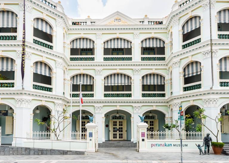 Facade of the Peranakan Museum of Singapore