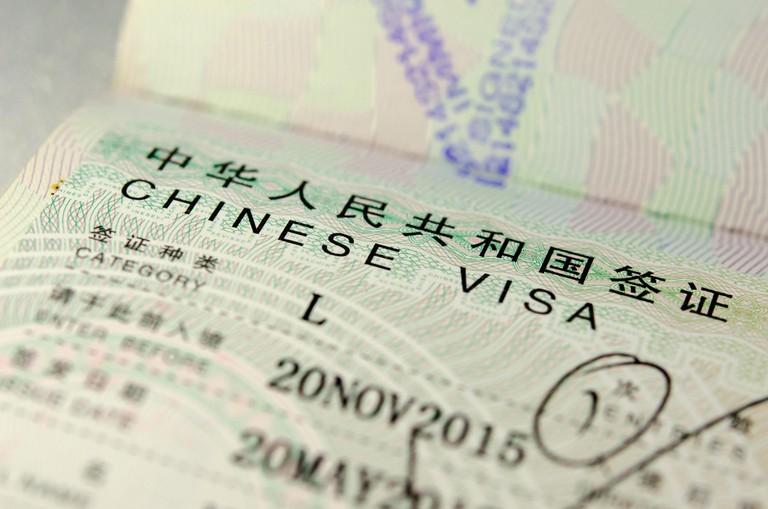 China visa in passport