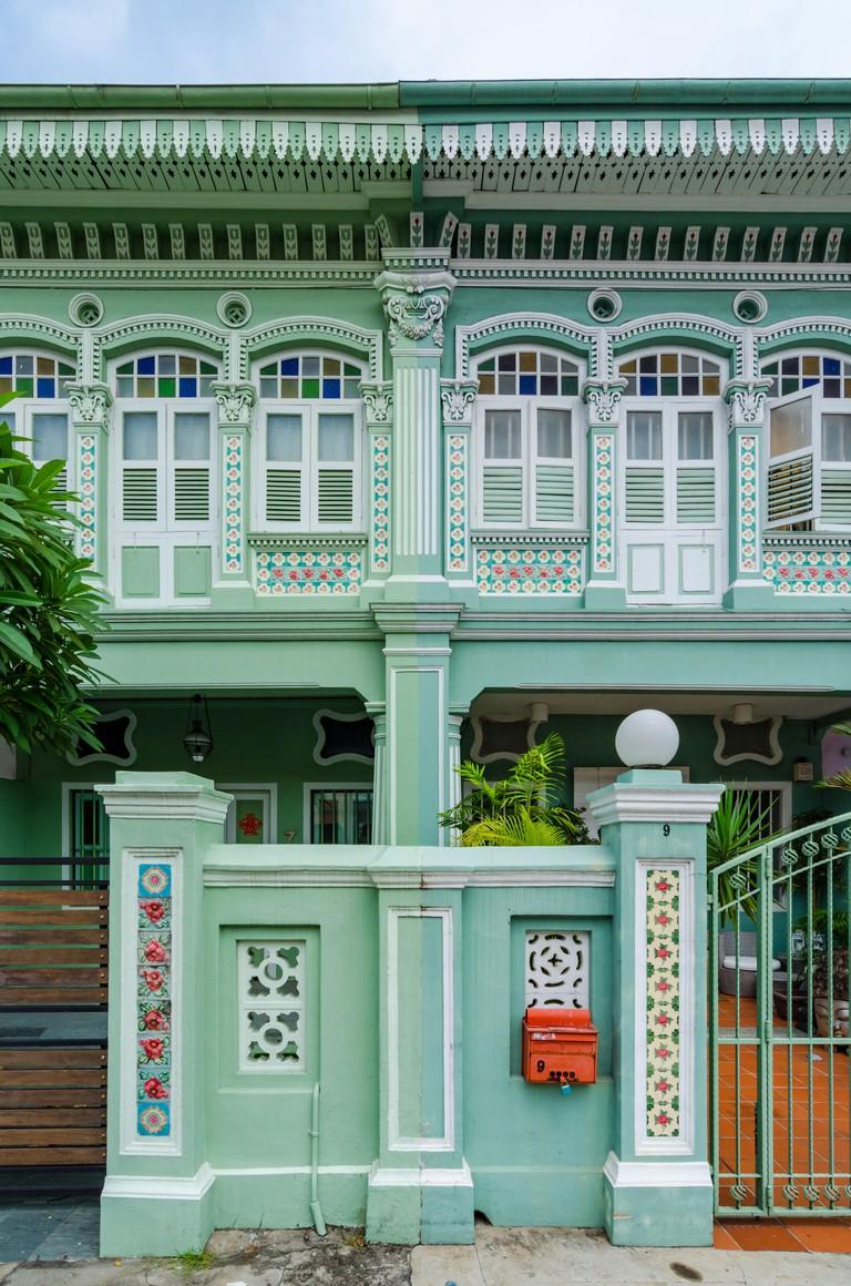 "Colourful ""Peranakan"" Houses, Singapore"