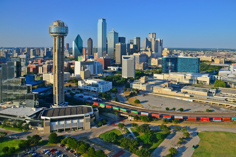 Downtown Dallas, TX from the air