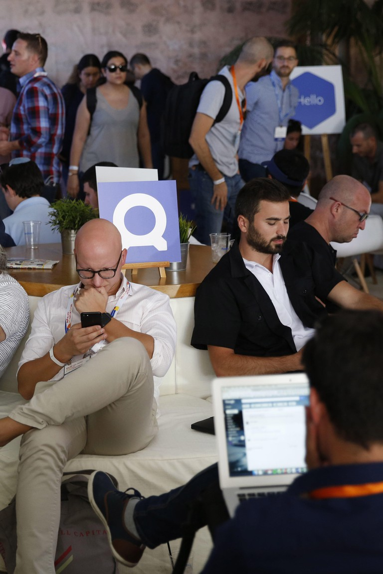 Israel. 07th Sep, 2017. Participants are seen at the DLD Tel Aviv Conference 2017, HaTachana, Tel Aviv-Yafo, September 7th 2017 .(Free press image ) Photo By Abir Sultan. | Verwendung weltweit/picture alliance Credit: dpa/Alamy Live News