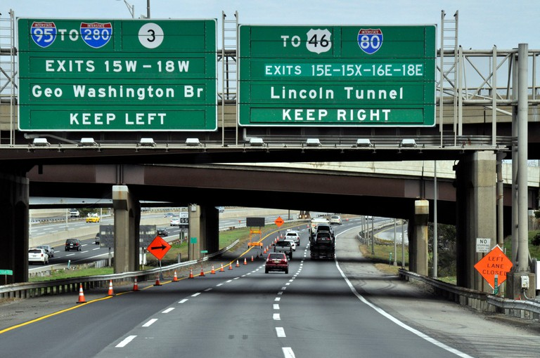 Rt95 near the exit for the Licoln Tunnel