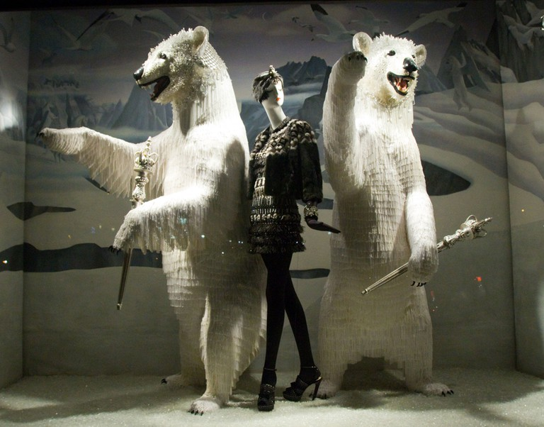Bergdorf Goodman holiday windows, New York, America - 24 Nov 2009