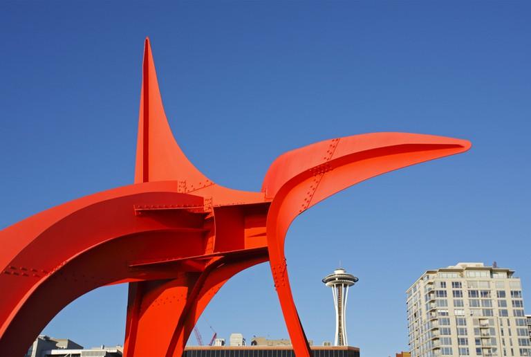 Eagle sculpture by Alexander Calder, Olympic Sculpture Park, Seattle.