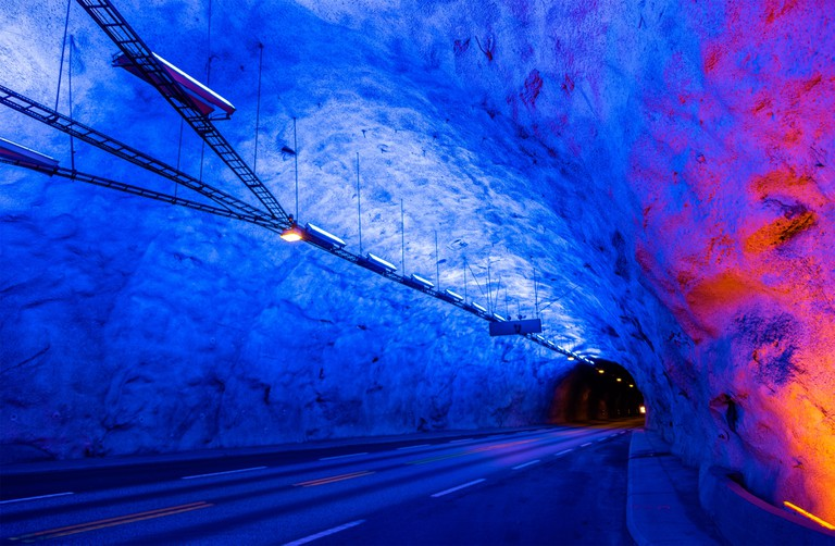 Laerdal Tunnel, the longest road tunnel in the world, Norway