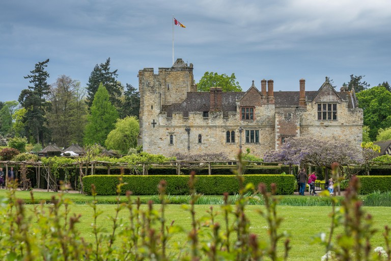 Hever Castle, England -  April 2017 : Hever Castle  located in the village of Hever, Kent, built in the 13th century, historical home of Ann Boleyn, t