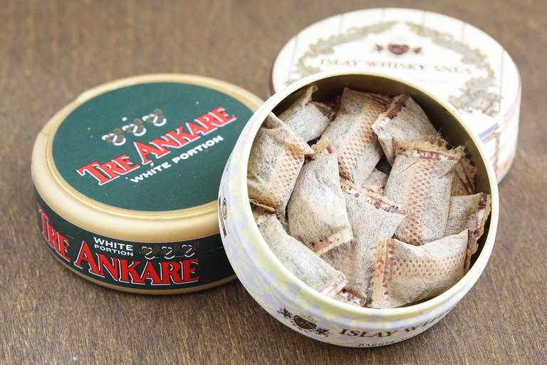 Jars of Swedish snus